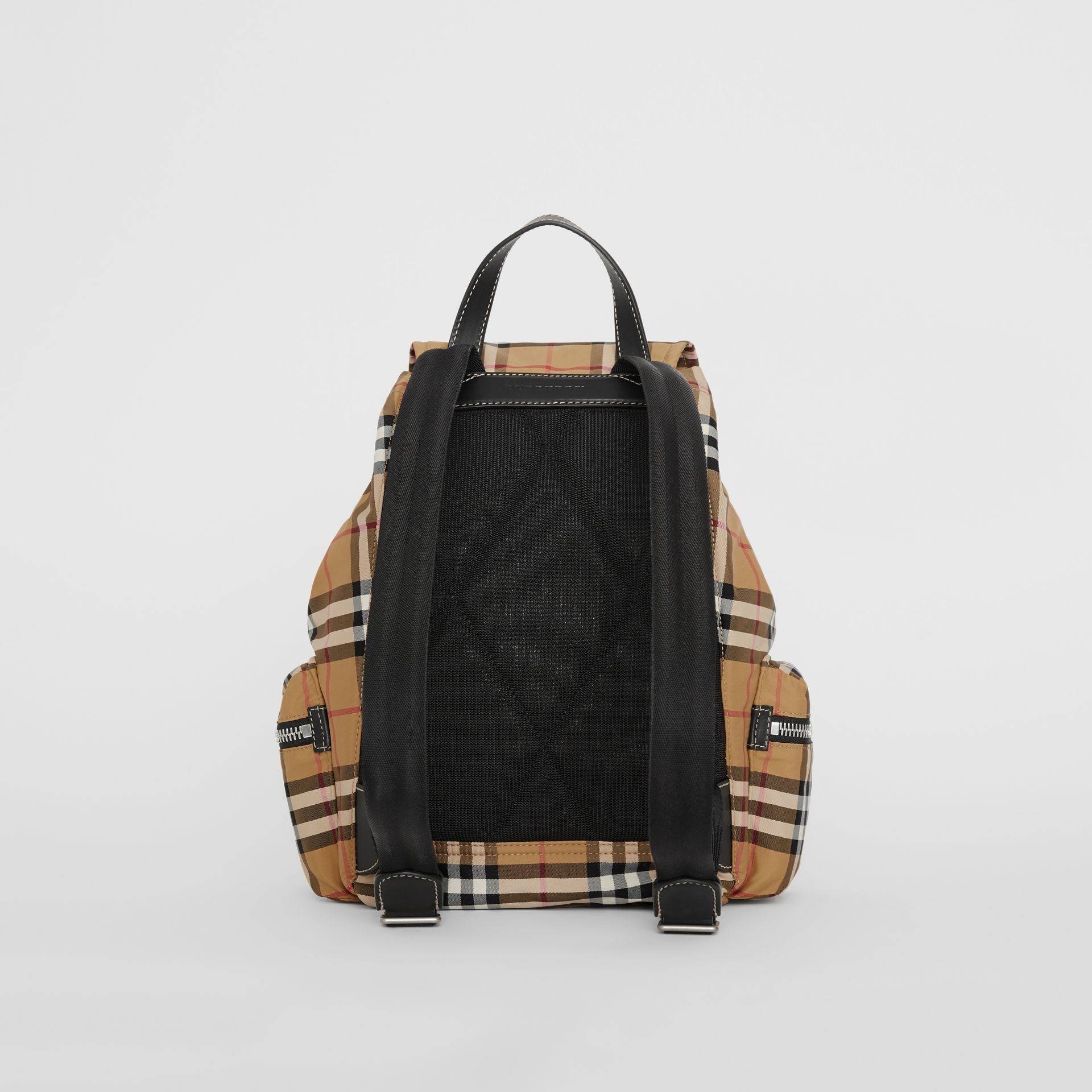 The Medium Rucksack in Vintage Check Nylon in Antique Yellow - Women | Burberry - gallery image 7