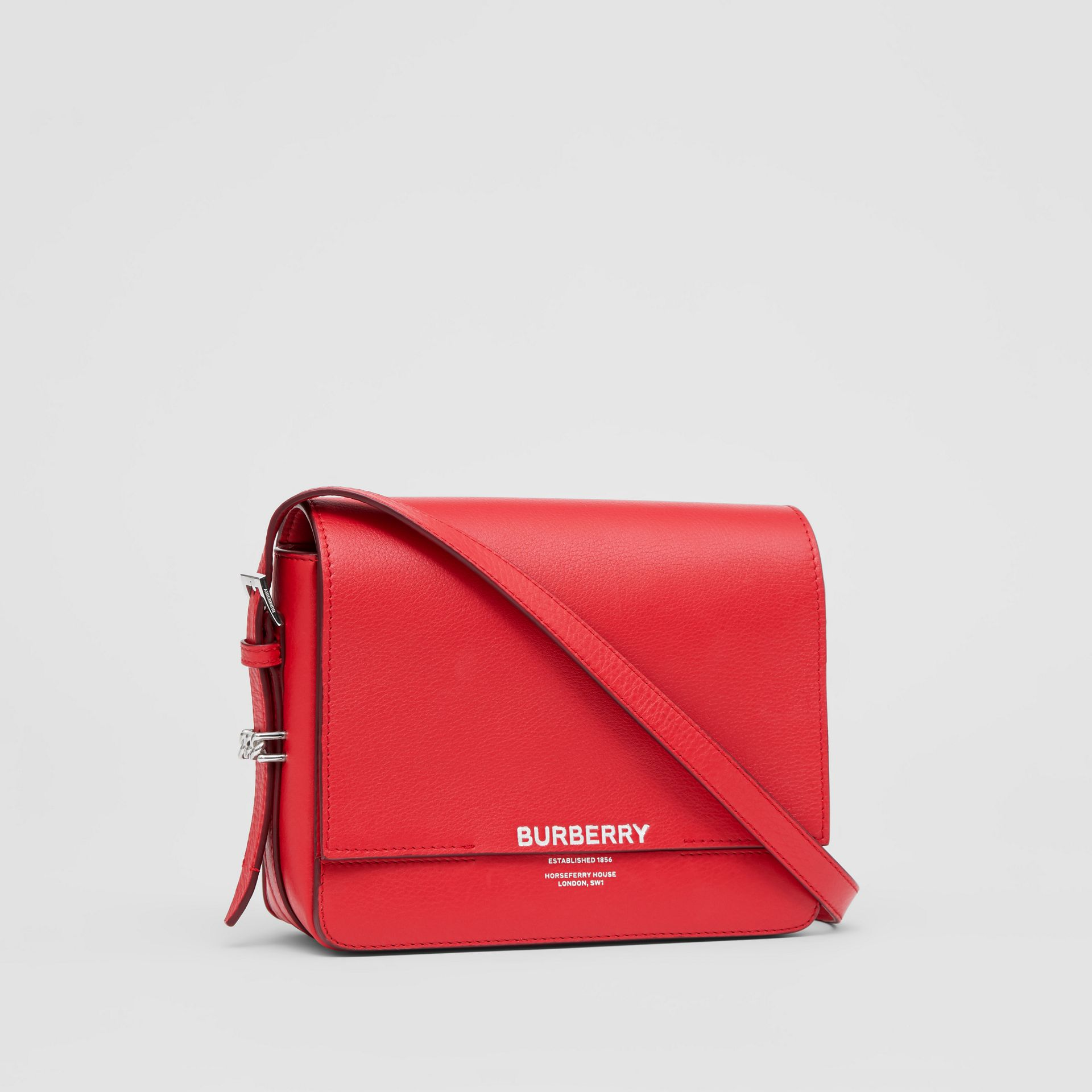 Small Leather Grace Bag in Bright Military Red - Women | Burberry - gallery image 6