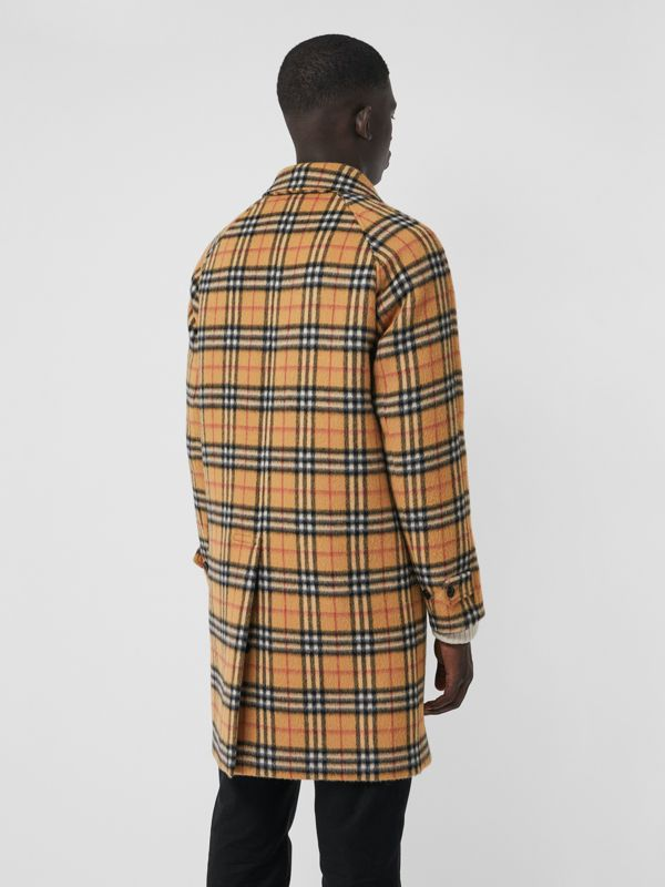 Vintage Check Alpaca Wool Car Coat in Antique Yellow - Men | Burberry United States - cell image 2