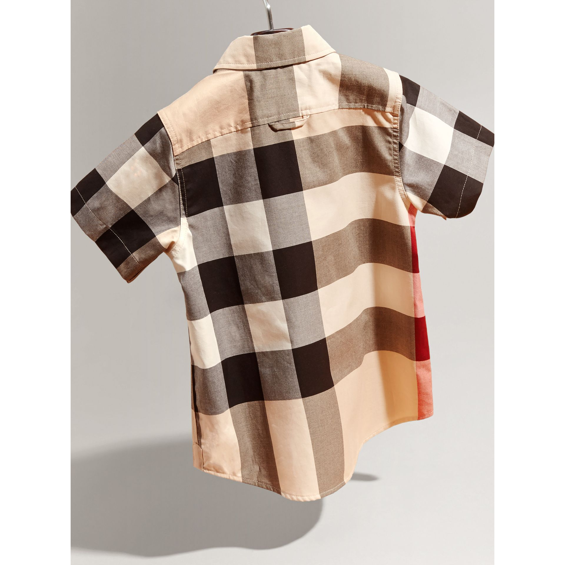 Short-sleeve Check Cotton Shirt in New Classic - Boy | Burberry - gallery image 3