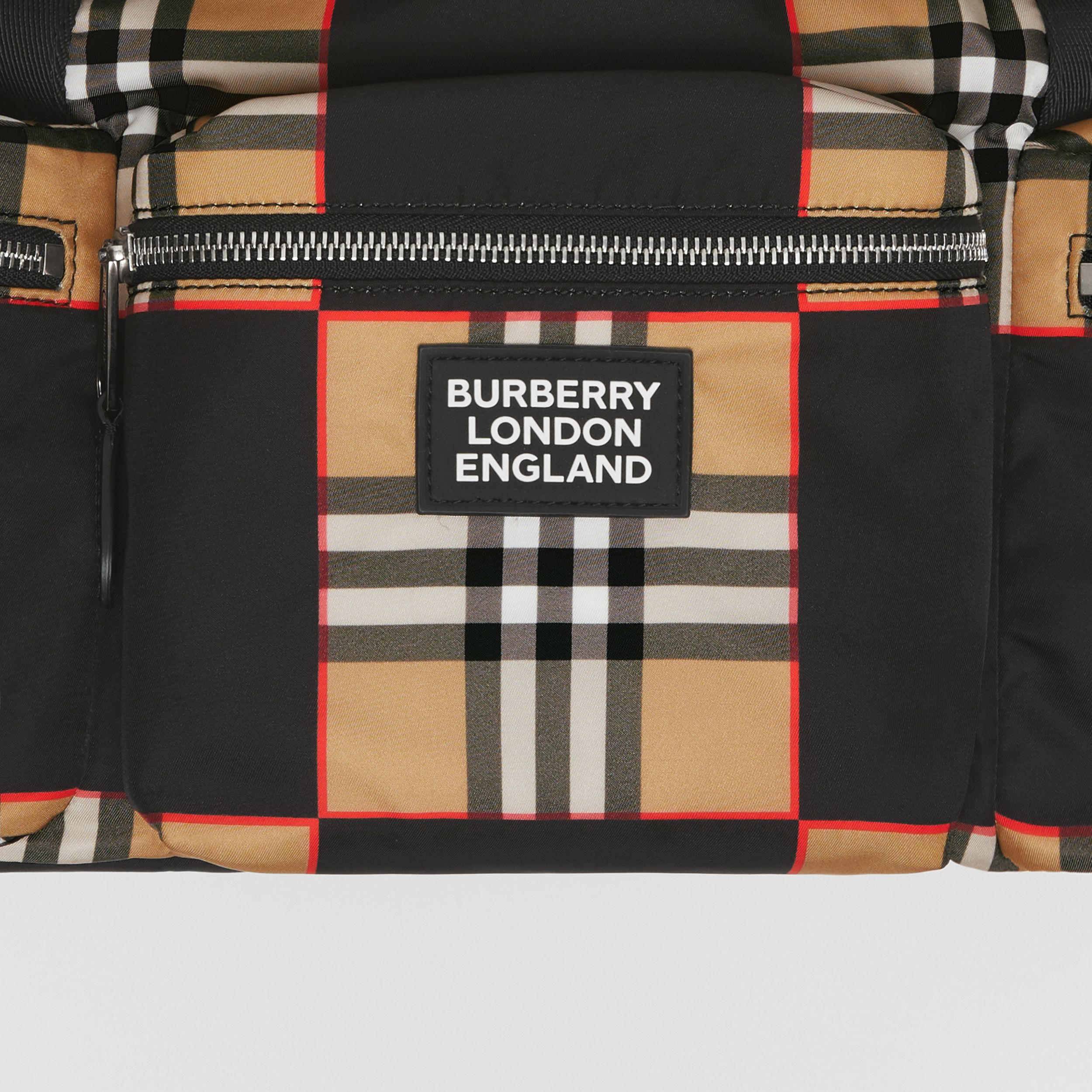 Logo Appliqué Chequer ECONYL® Backpack - Men | Burberry - 2