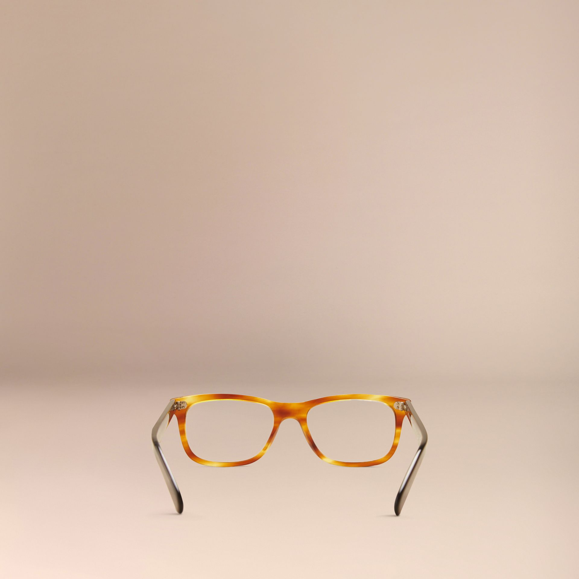 Square Optical Frames Tortoise Amber - gallery image 3