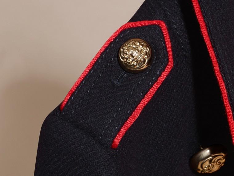 Marine Manteau en laine et cachemire mélangés avec détails militaires - cell image 1