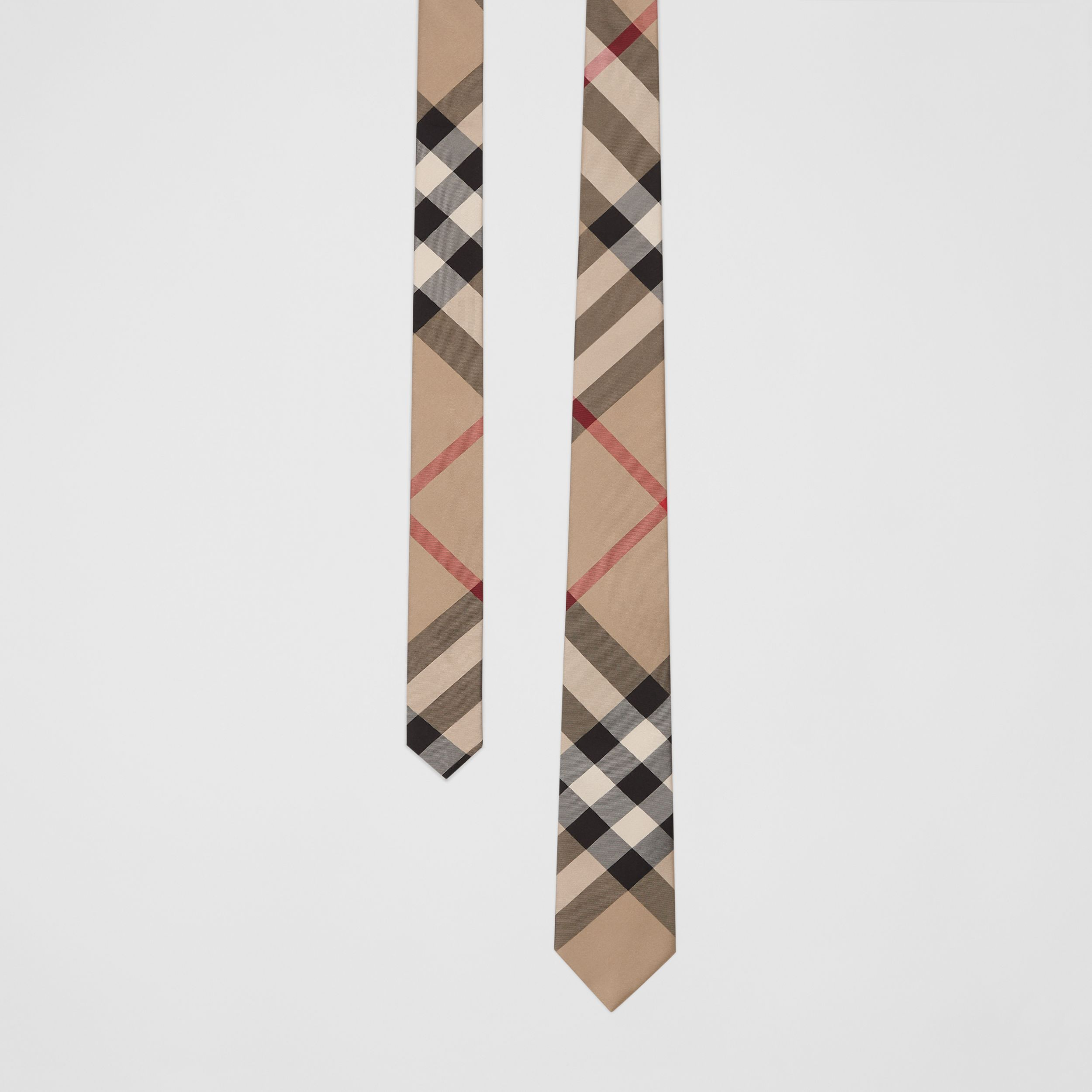 Classic Cut Check Silk Tie in Archive Beige - Men | Burberry - 1