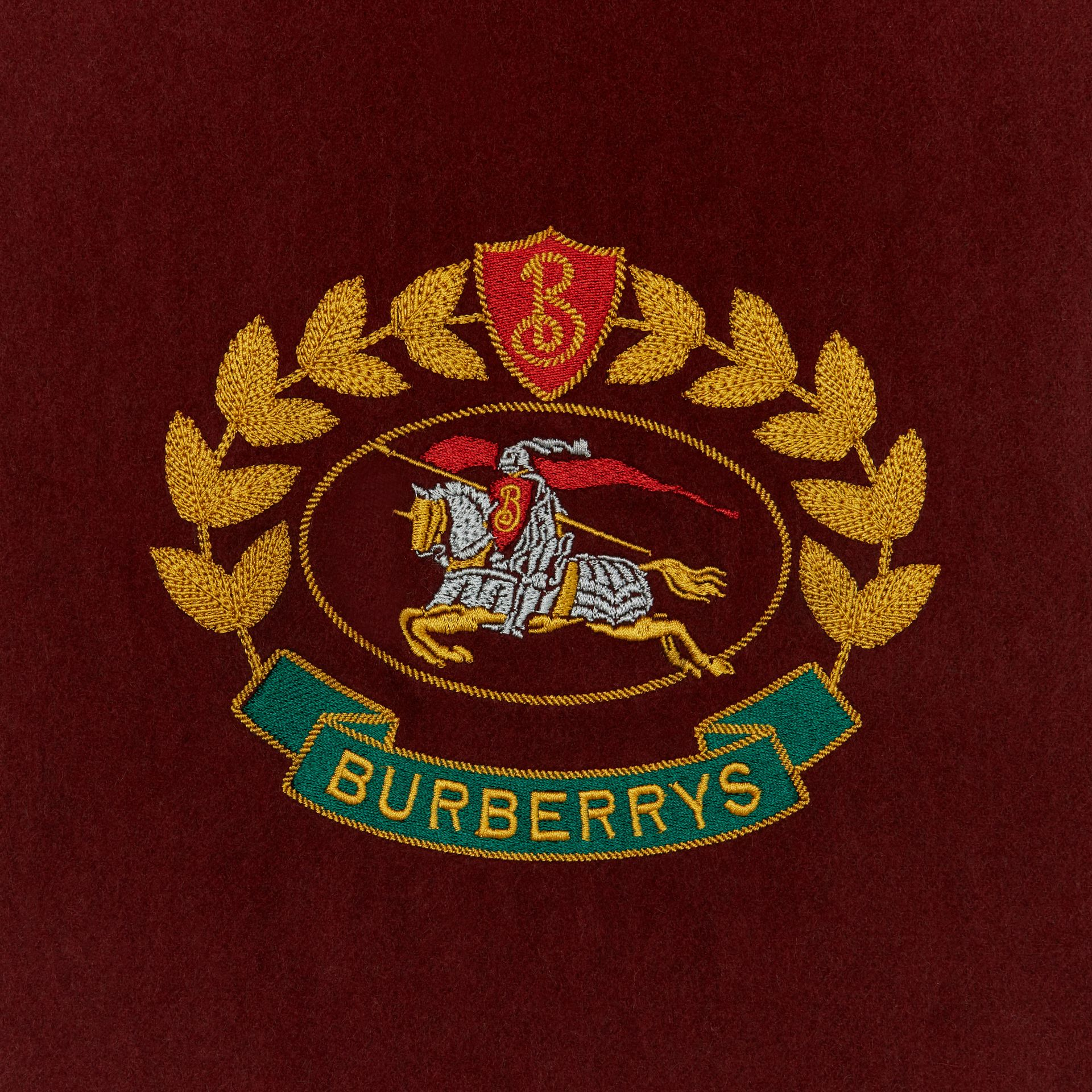 The Classic Cashmere Scarf with Archive Logo in Claret | Burberry United States - gallery image 1
