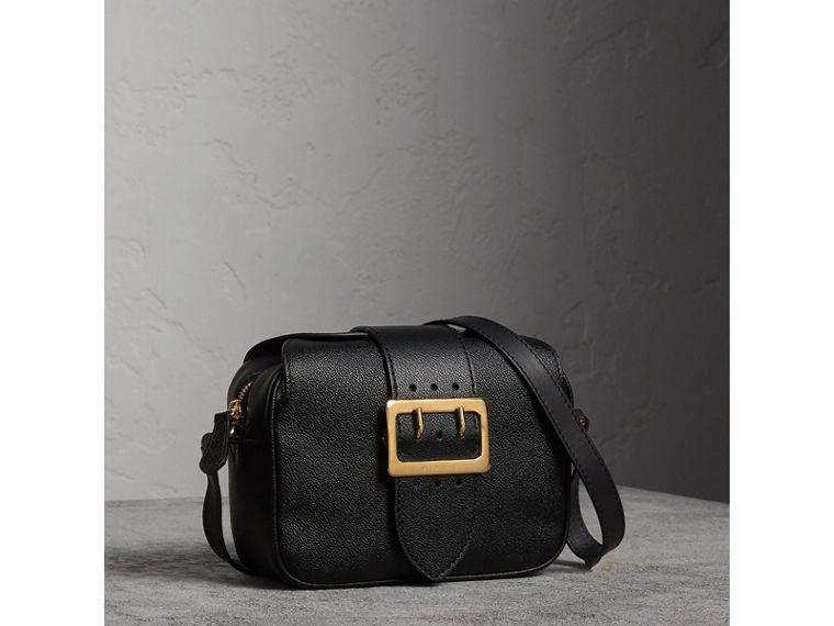 The Small Buckle Crossbody Bag in Leather in Black - Women | Burberry - cell image 4