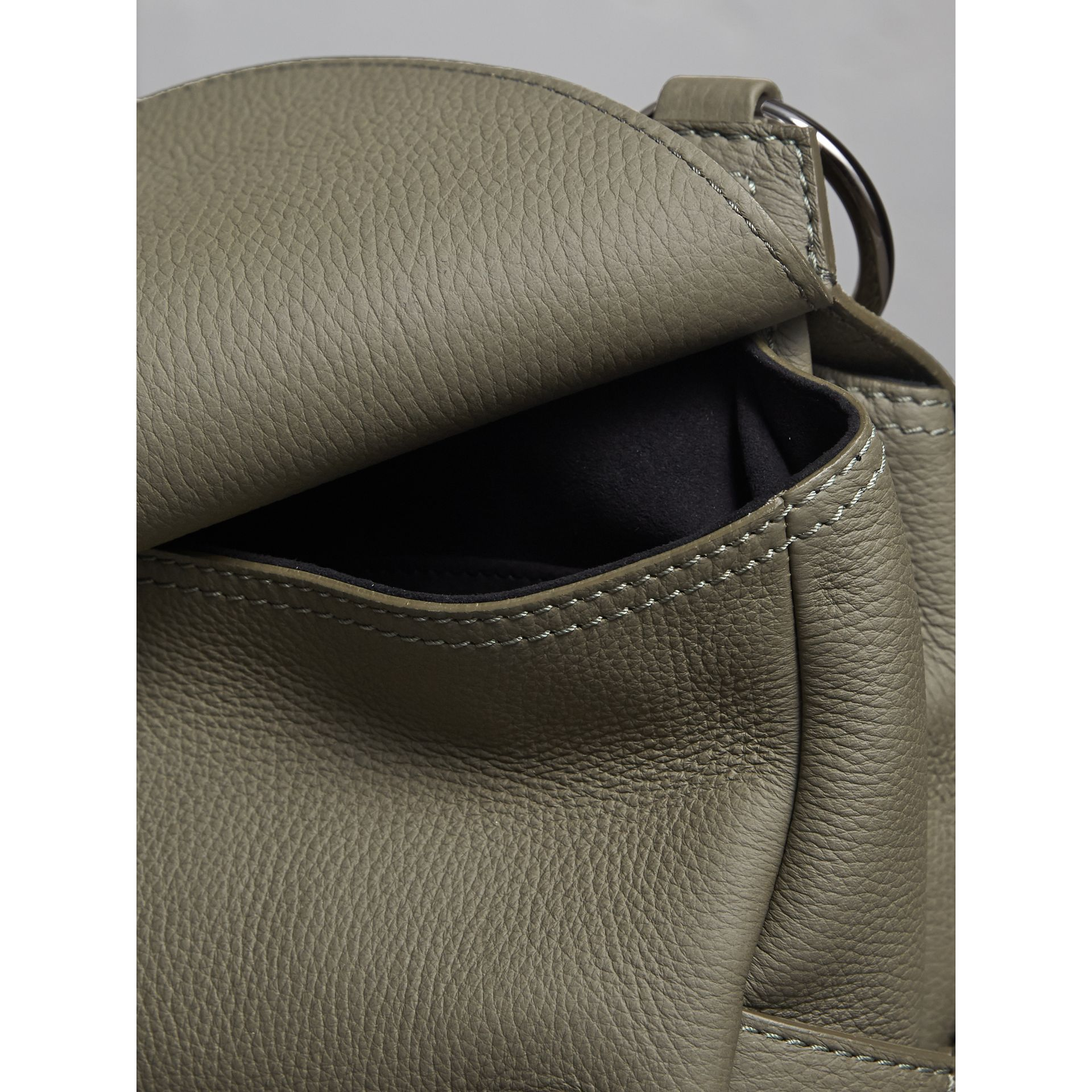 The Bridle Bag in Deerskin in Slate Green - Women | Burberry - gallery image 6