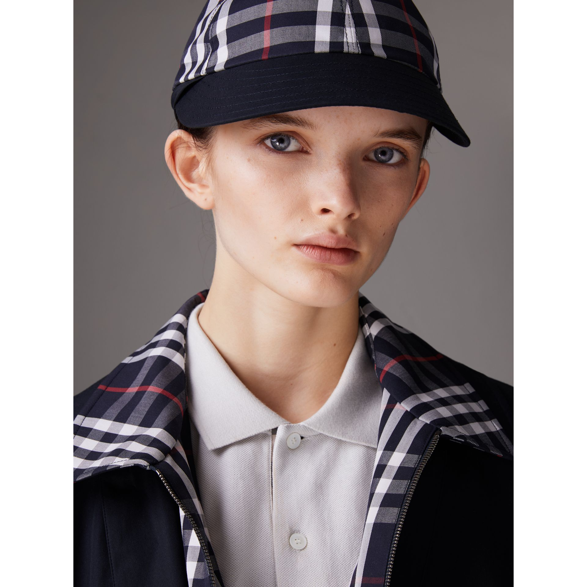Gosha x Burberry Baseball Cap in Navy | Burberry Australia - gallery image 3