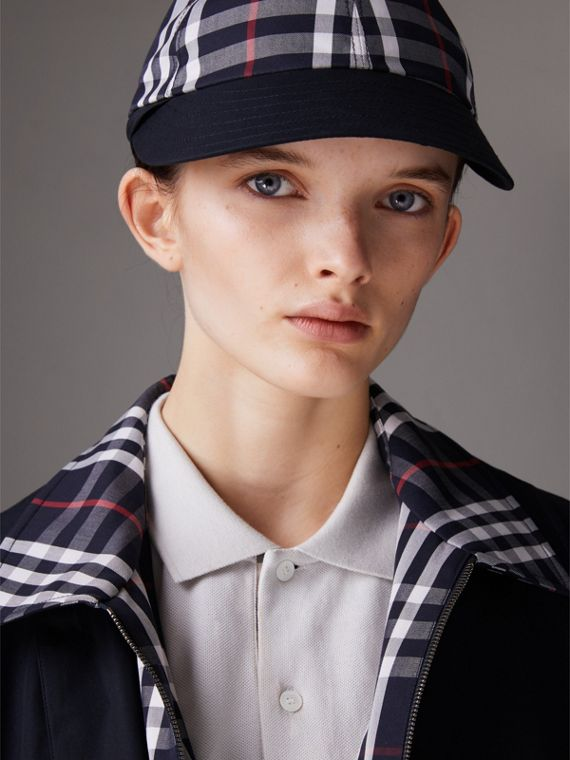 Gosha x Burberry Baseball Cap in Navy | Burberry Australia - cell image 3