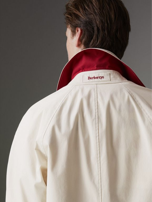 Reissued Waxed Cotton Gabardine Car Coat in Pale Stone - Men | Burberry Singapore - cell image 1