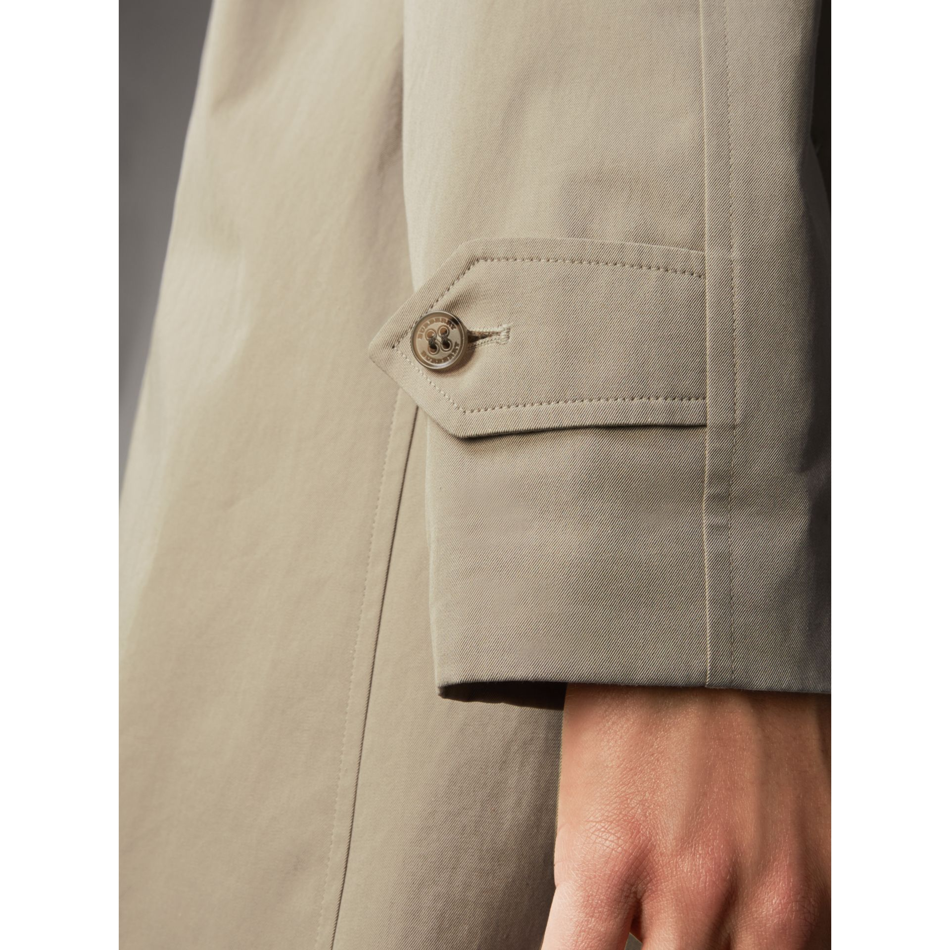 The Brighton – Longline Car Coat in Sandstone - Men | Burberry - gallery image 5