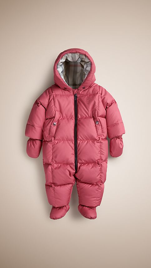 Camelia pink Down-Filled Puffer Suit - Image 1