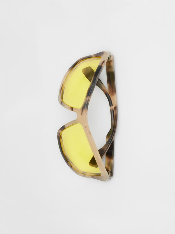 Wrap Frame Sunglasses in Yellow - Men | Burberry - cell image 3