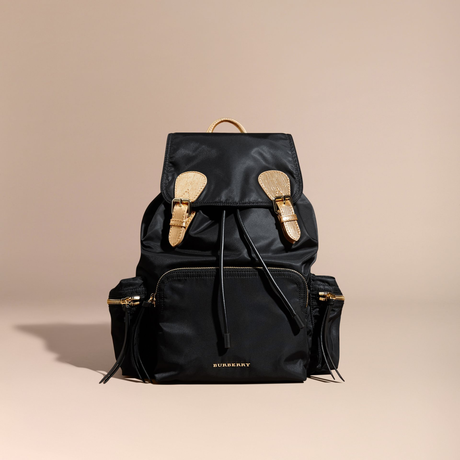 The Large Rucksack in Two-tone Nylon and Leather - gallery image 9