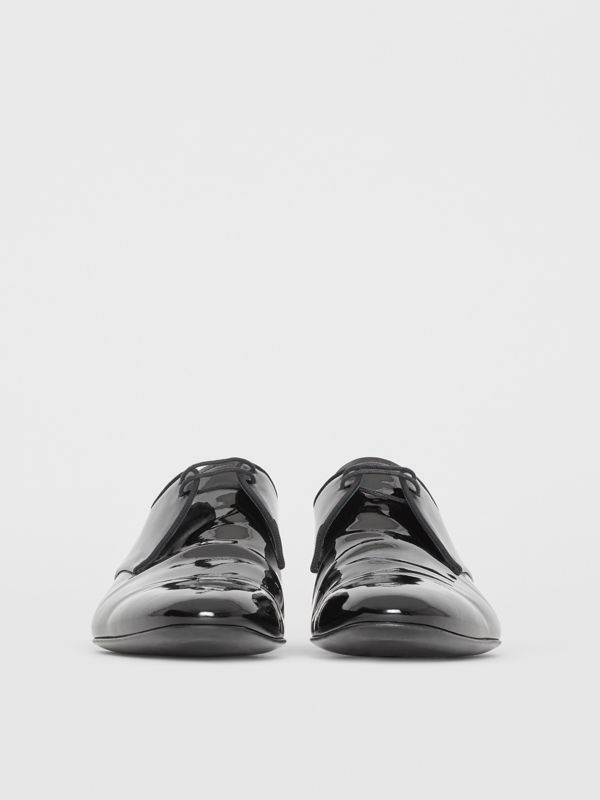 Polished Leather Lace-up Shoes in Black - Men | Burberry - cell image 3