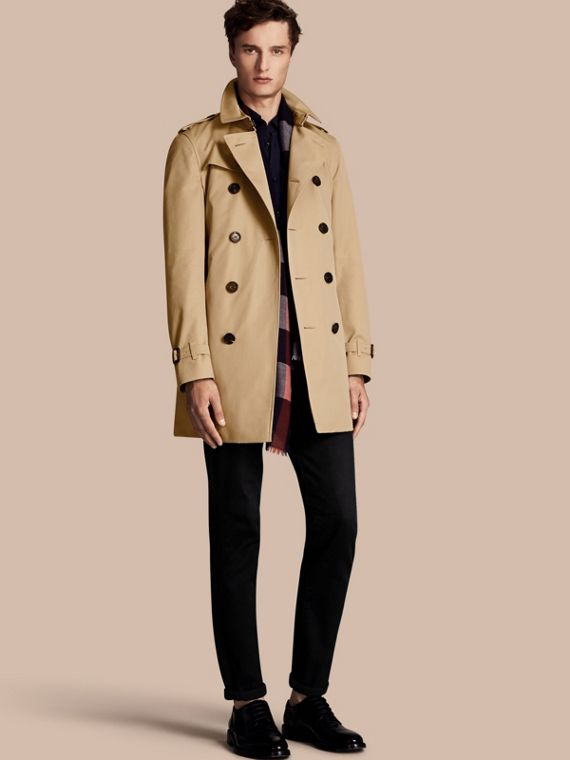 Trench-coat Heritage mi-long The Chelsea Miel