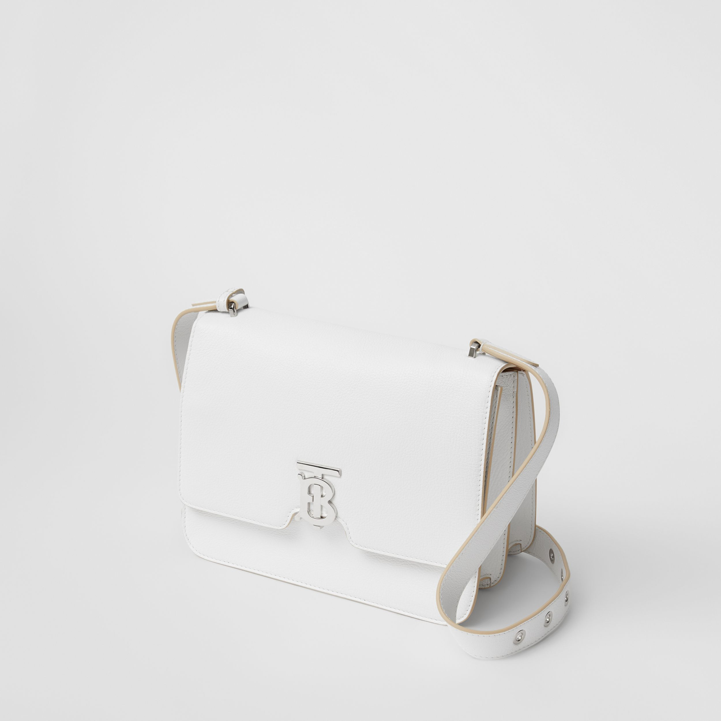 Medium Grainy Leather Alice Bag in Optic White - Women | Burberry - 4