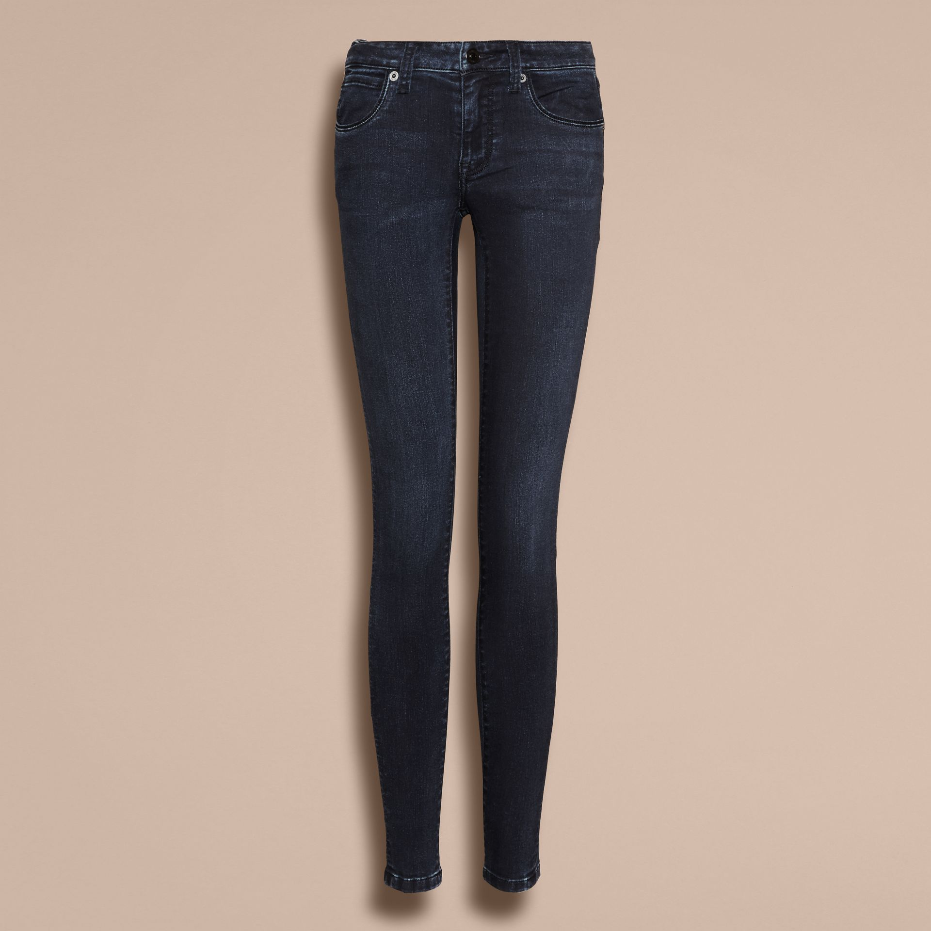 Skinny Fit Power-Stretch Jeans in Dark Indigo - Women | Burberry - gallery image 4
