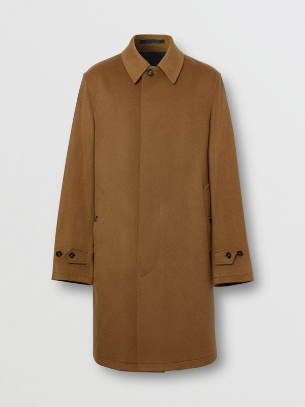 Cashmere Car Coat in Dark Camel - Men | Burberry - cell image 3