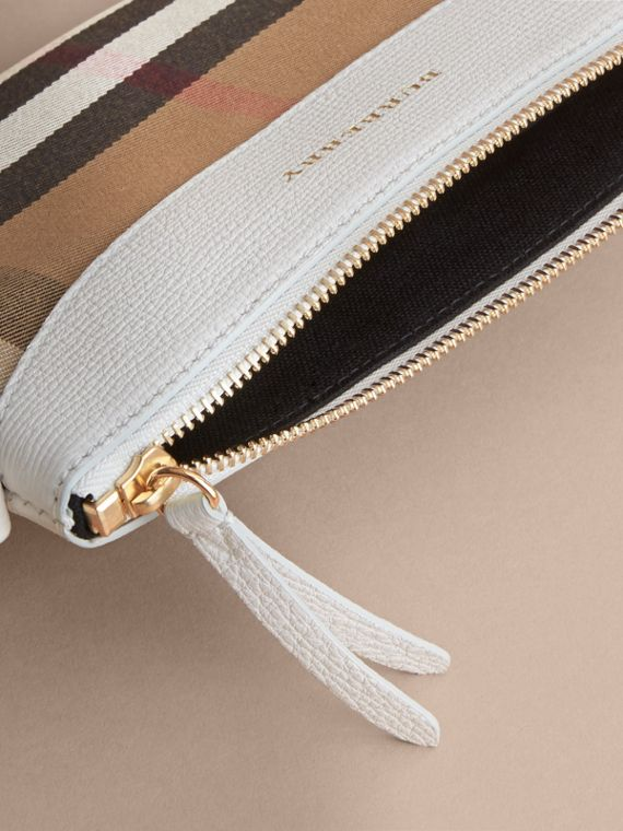 House Check and Leather Crossbody Bag in Natural | Burberry - cell image 3