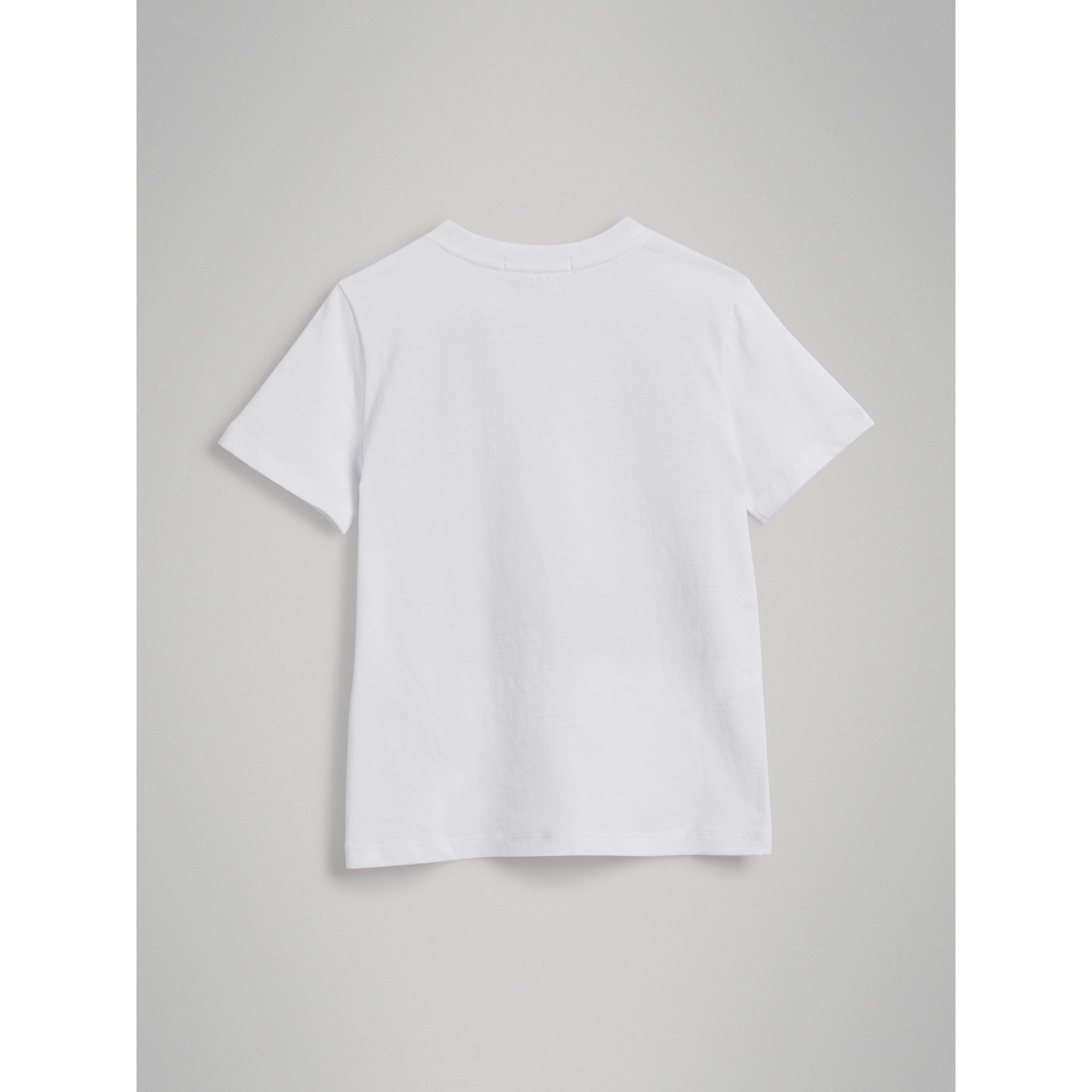 London Polaroid Print Cotton T-shirt in White | Burberry - gallery image 3