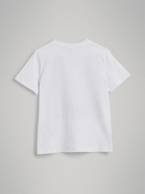 London Polaroid Print Cotton T-shirt in White - Boy | Burberry United Kingdom - cell image 3