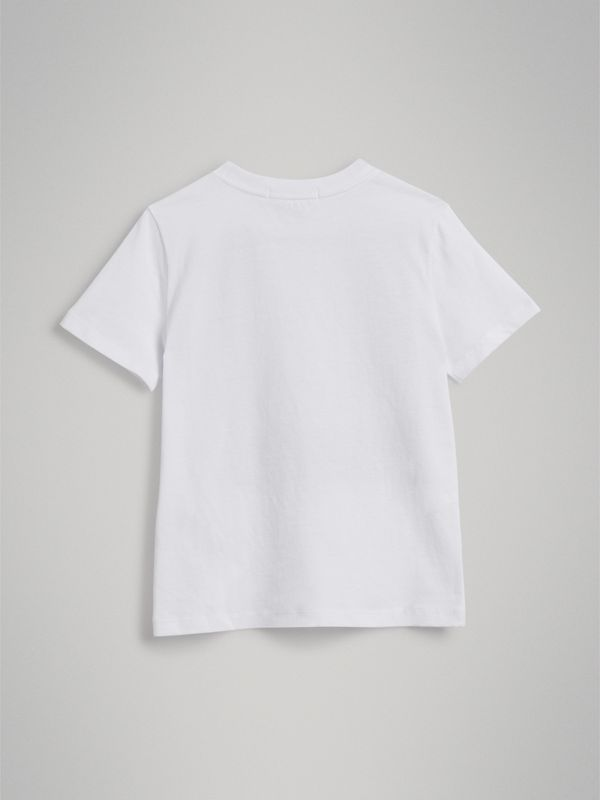 London Polaroid Print Cotton T-shirt in White | Burberry - cell image 3