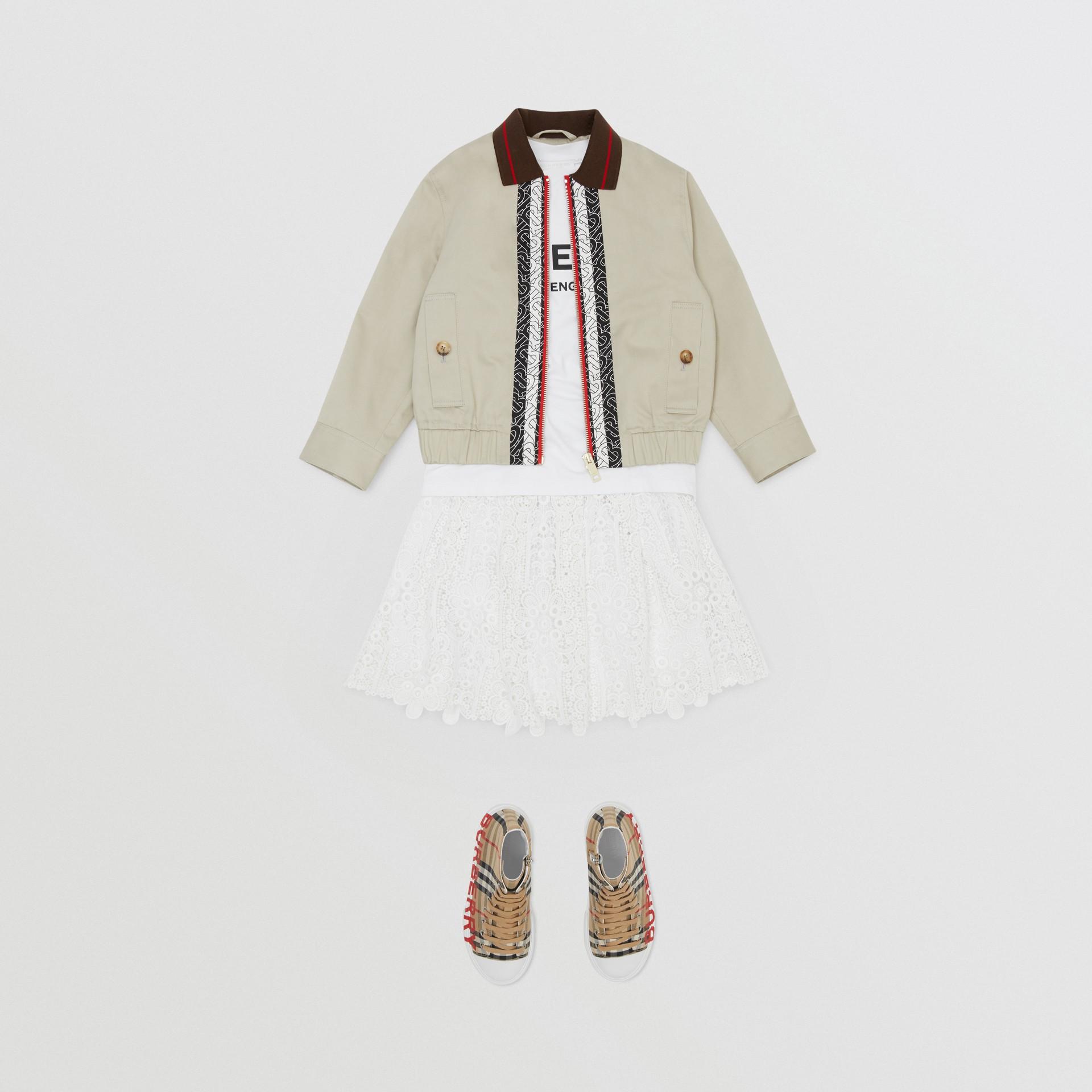 プリーツ マクラメレース スカート (ホワイト) | バーバリー - ギャラリーイメージ 2