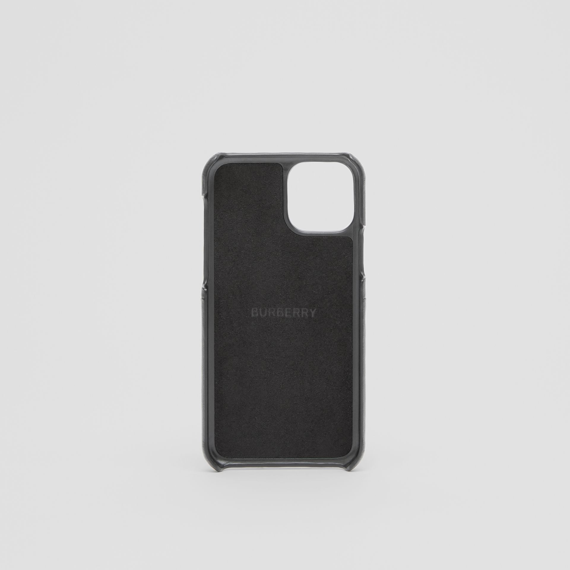 Symbol Print Leather iPhone 11 Pro Case in Black - Men | Burberry - gallery image 3