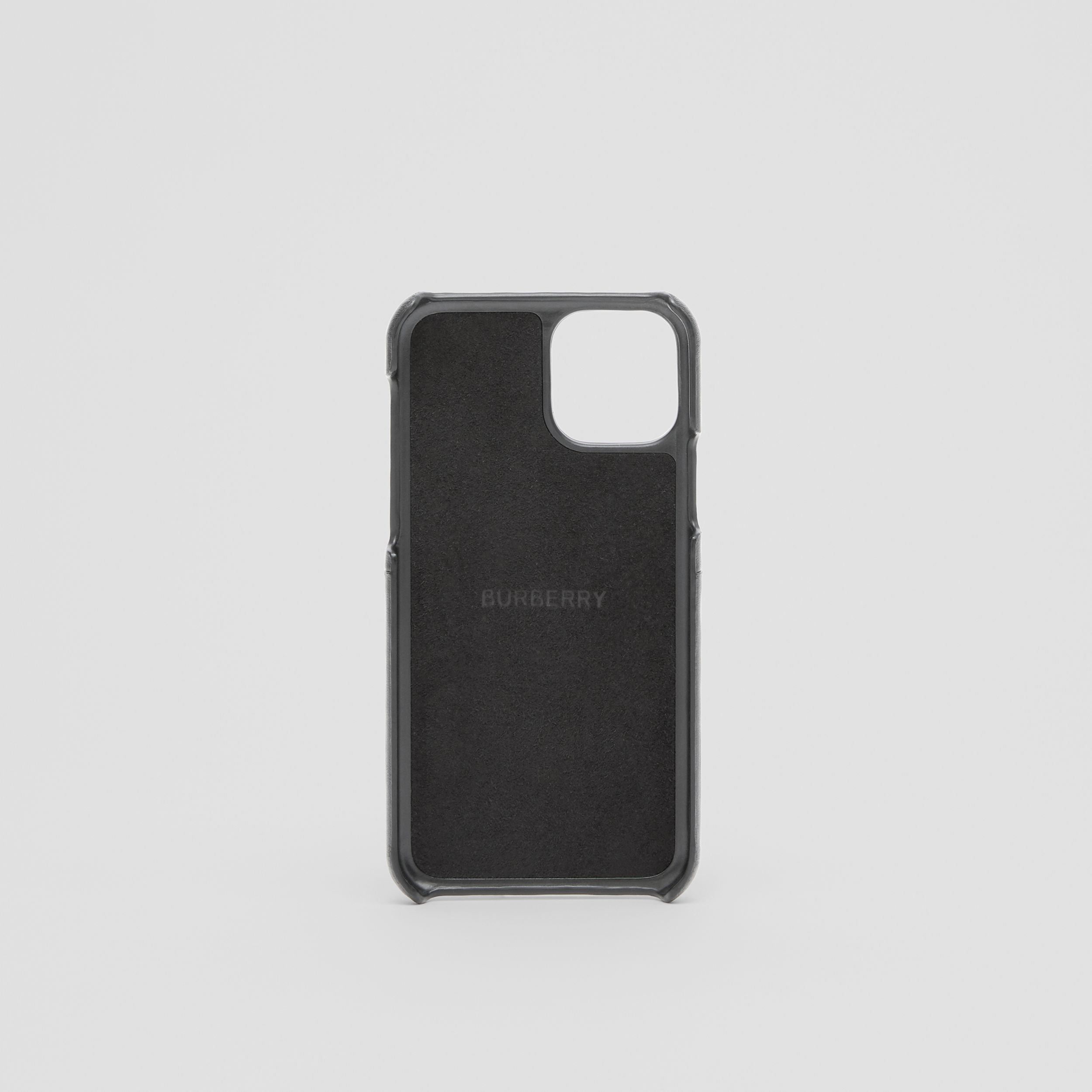 Symbol Print Leather iPhone 11 Pro Case in Black - Men | Burberry Hong Kong S.A.R. - 4