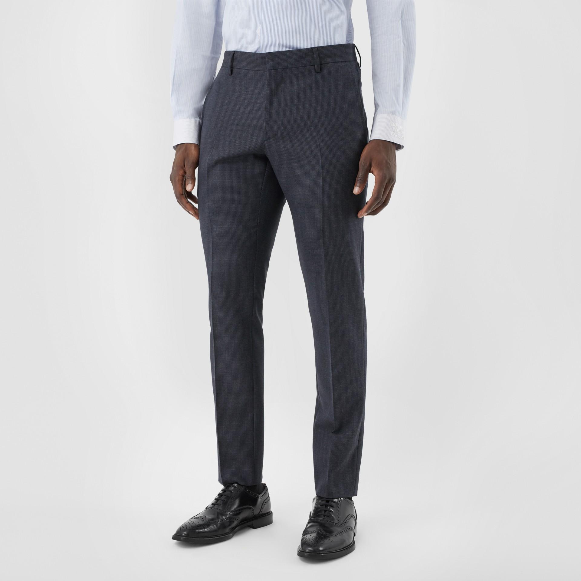 Slim Fit Wool Suit in Navy - Men | Burberry Australia - gallery image 5
