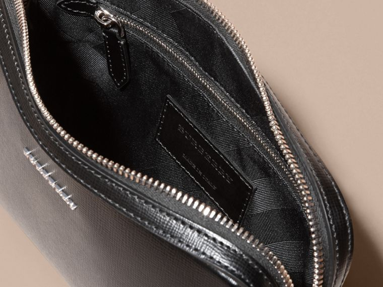 London Leather Pouch in Black - Men | Burberry - cell image 4