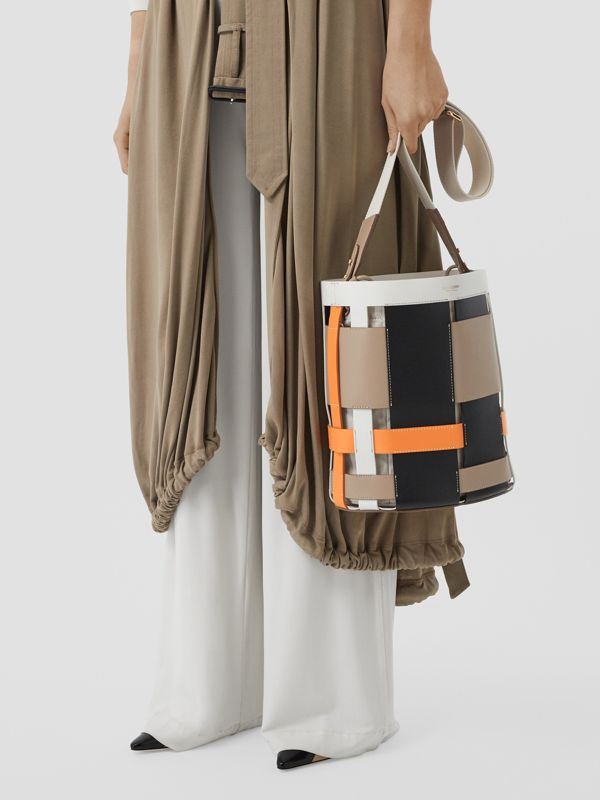 Small Leather Foster Bucket Bag in Honey - Women | Burberry - cell image 2