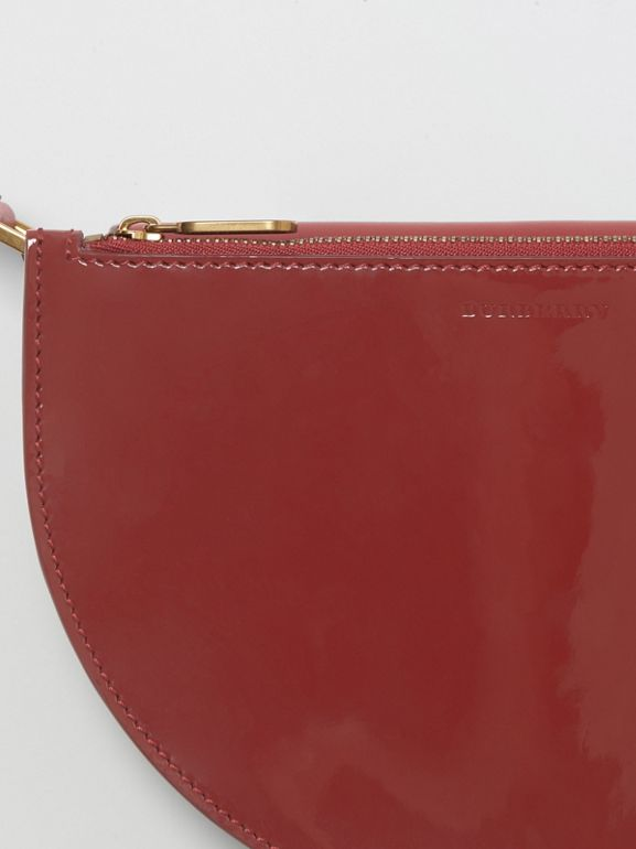 Petit sac The D Bag en cuir verni (Carmin) - Femme | Burberry Canada - cell image 1