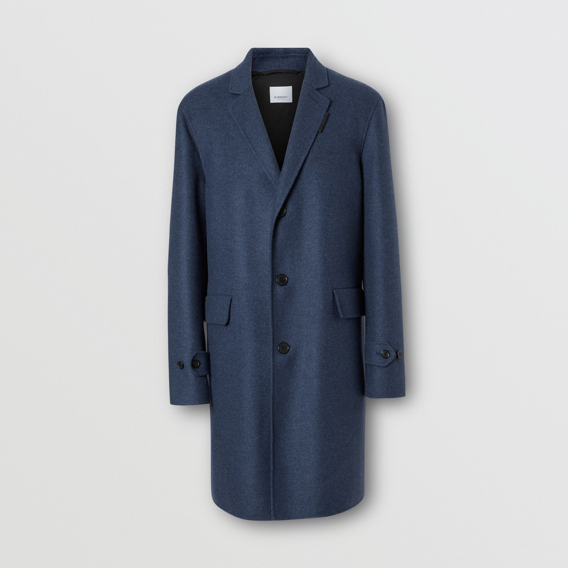 Wool Cashmere Lab Coat in Steel Blue Melange - Men | Burberry United Kingdom - gallery image 3