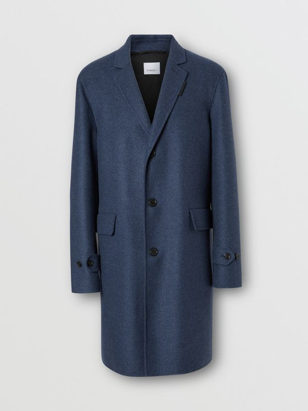 Wool Cashmere Lab Coat in Steel Blue Melange - Men | Burberry United Kingdom - cell image 3