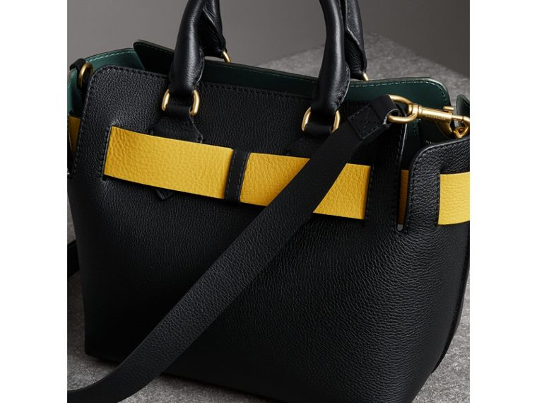 The Small Leather Belt Bag in Black/yellow - Women | Burberry - cell image 4