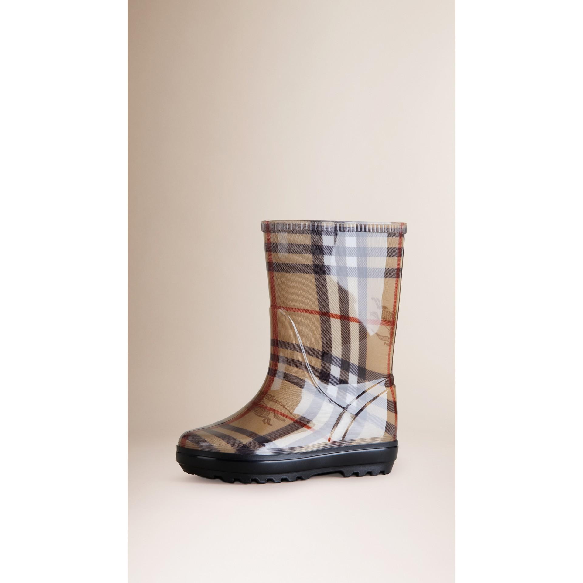 Haymarket Check Rain Boots - gallery image 1