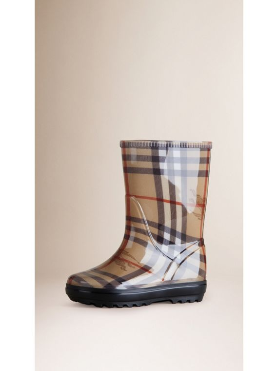 Haymarket Check Rain Boots