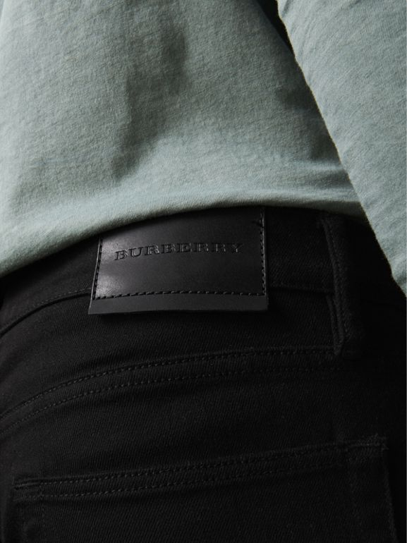 Straight Fit Stretch-denim Jeans in Black - Men | Burberry Australia - cell image 1
