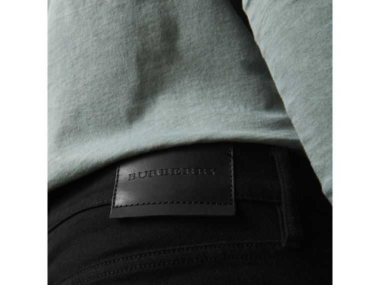Straight Fit Stretch-denim Jeans in Black - Men | Burberry - cell image 1