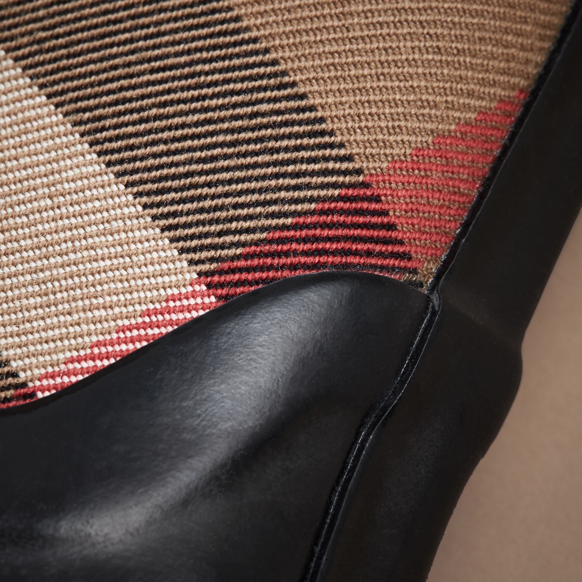 House Check Panel Rain Boots | Burberry Canada - gallery image 2