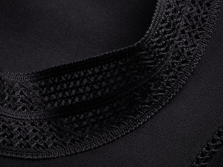 Stitch Detail Crepe High-neck Dress - Women | Burberry - cell image 1