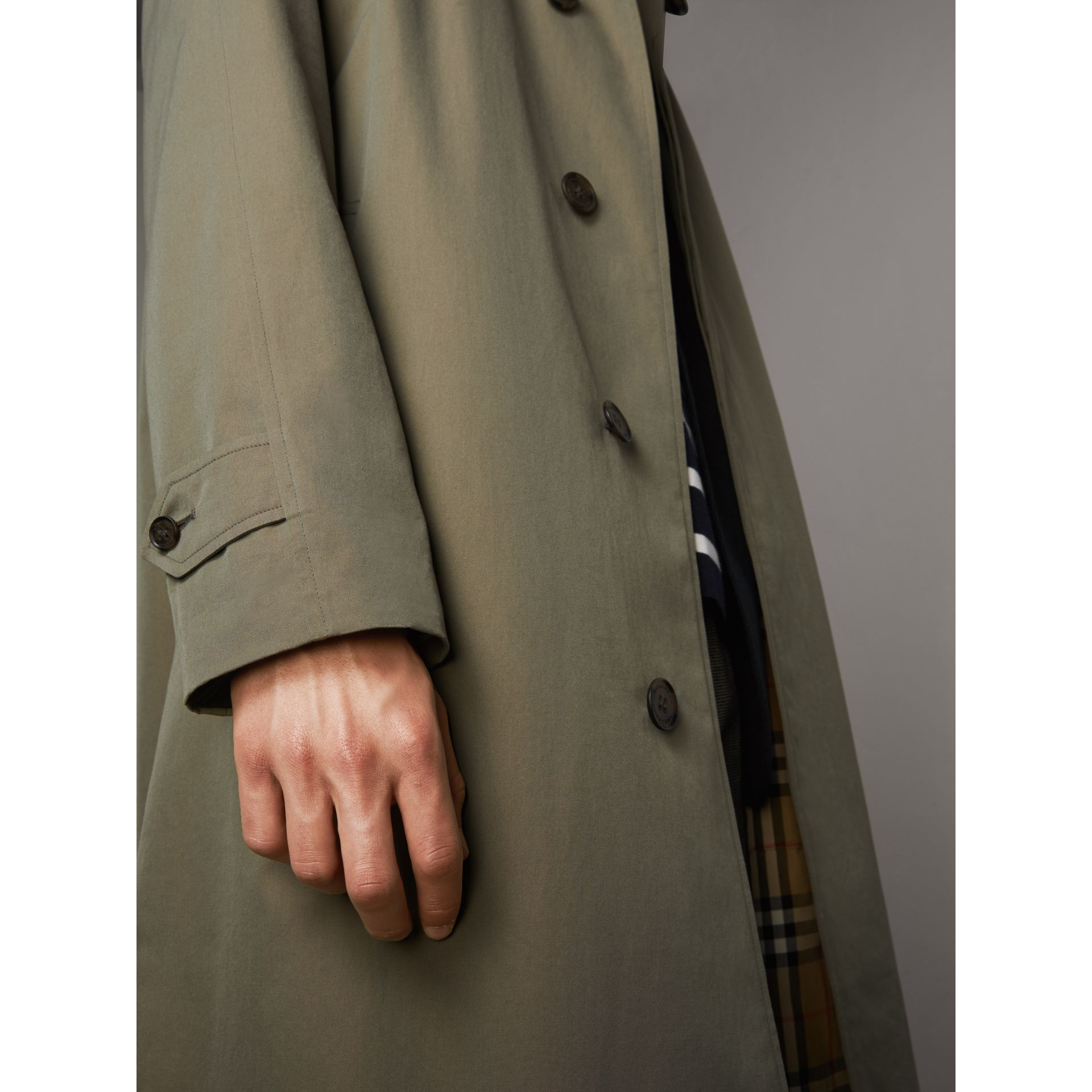 The Brighton – Longline Car Coat in Chalk Green - Men | Burberry - gallery image 5