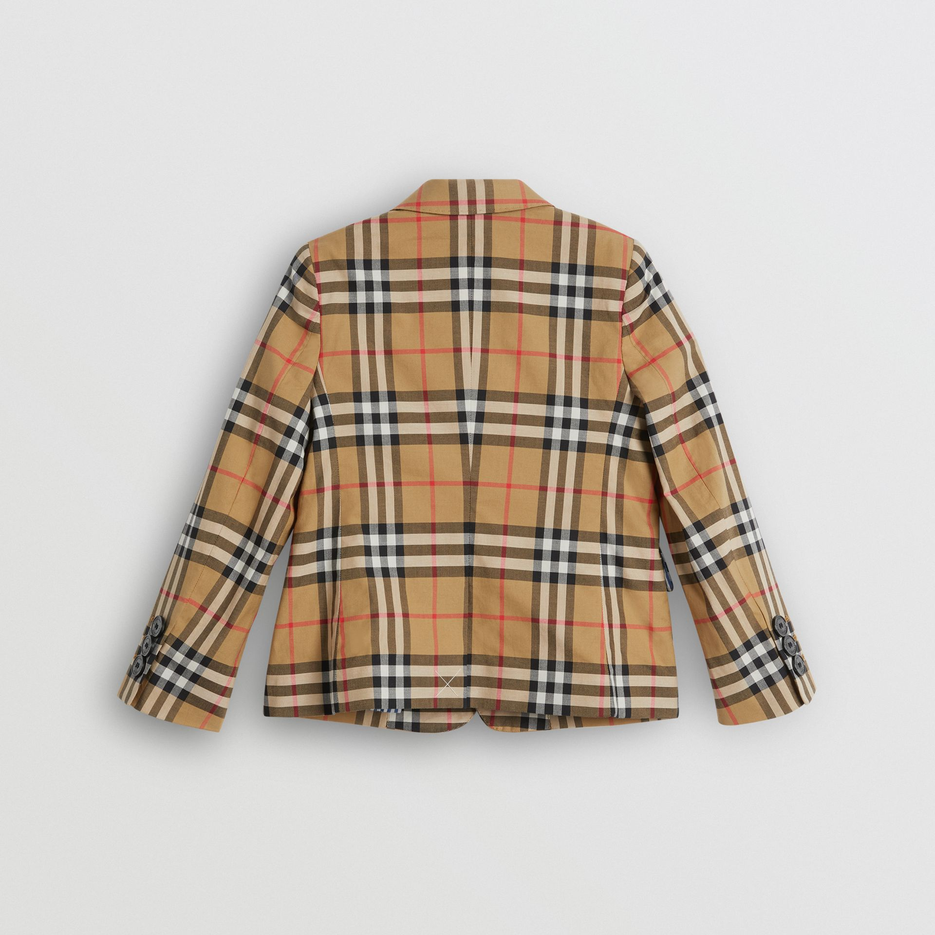 Vintage Check Cotton Blazer in Antique Yellow | Burberry United States - gallery image 3
