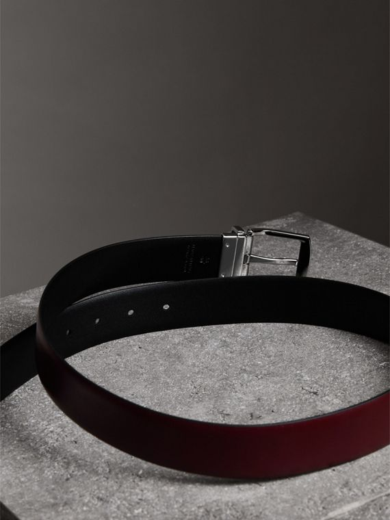 Reversible Leather Belt in Auburn - Men | Burberry - cell image 3