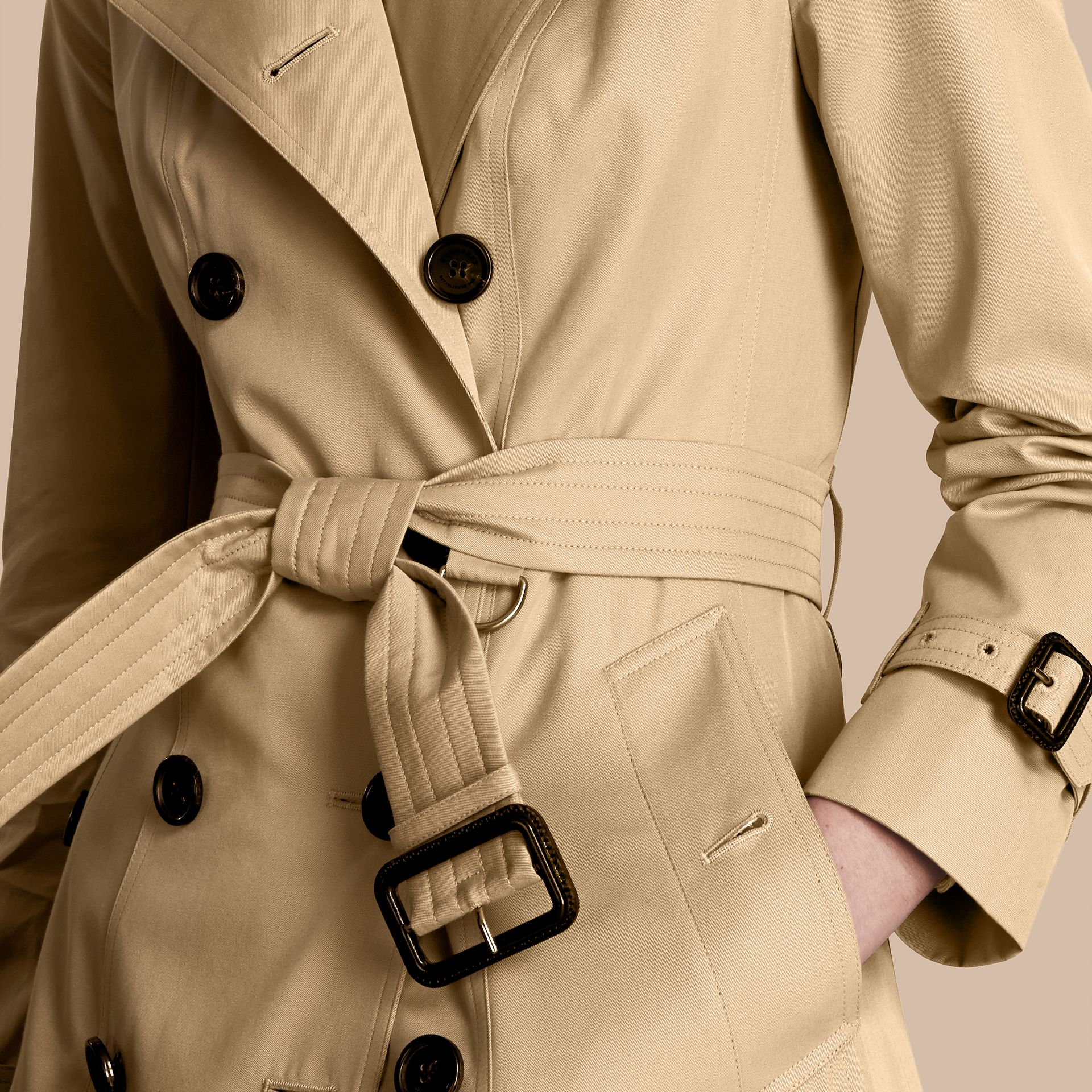 Honey The Kensington – Long Heritage Trench Coat Honey - gallery image 6