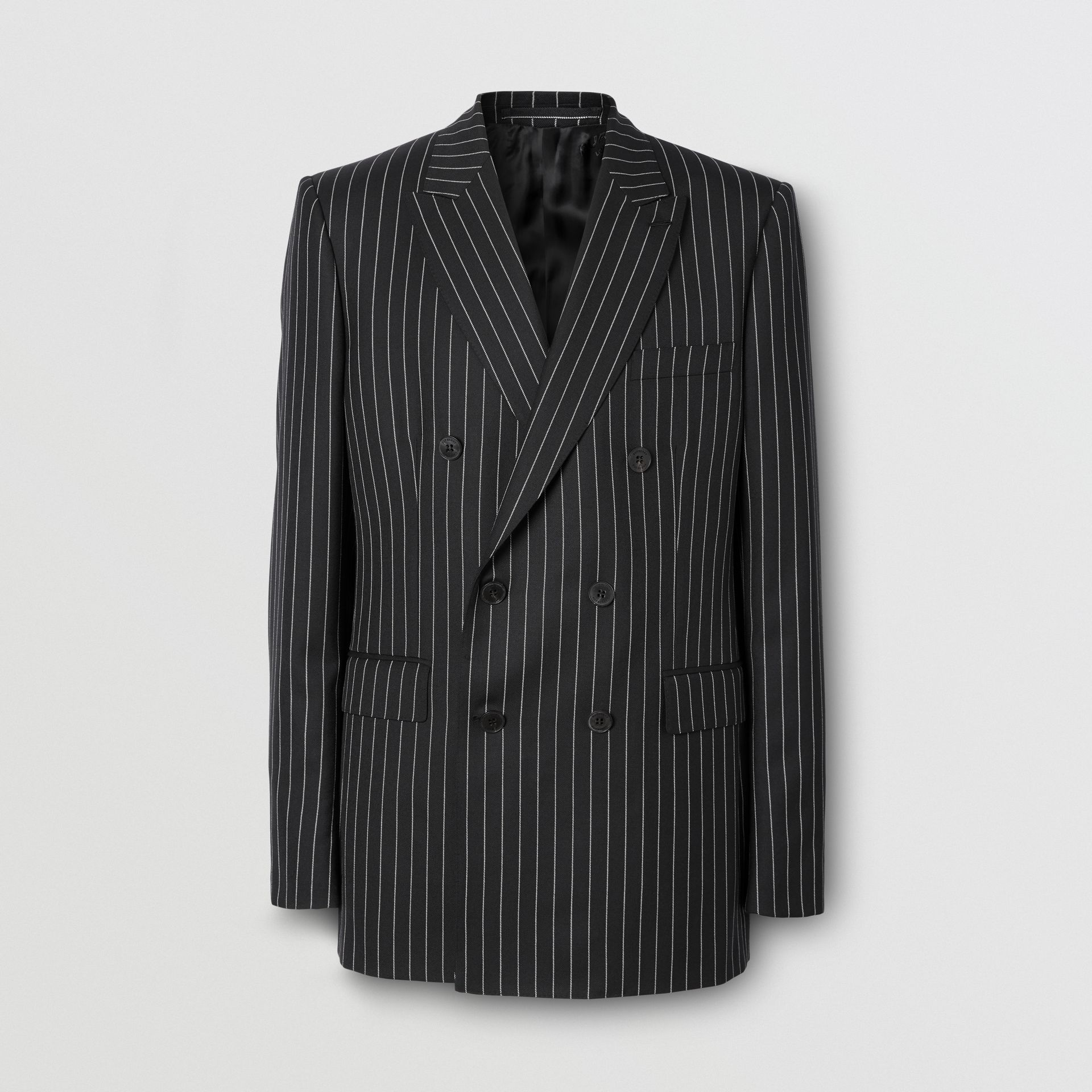 English Fit Pinstriped Wool Suit in Black - Men | Burberry United Kingdom - gallery image 3