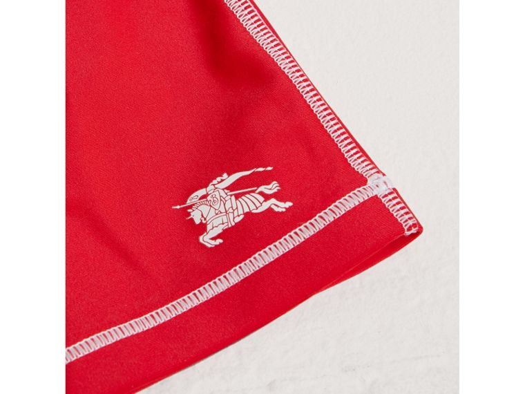 Topstitch Detail Two-piece Rash Set in Poppy Red | Burberry - cell image 1