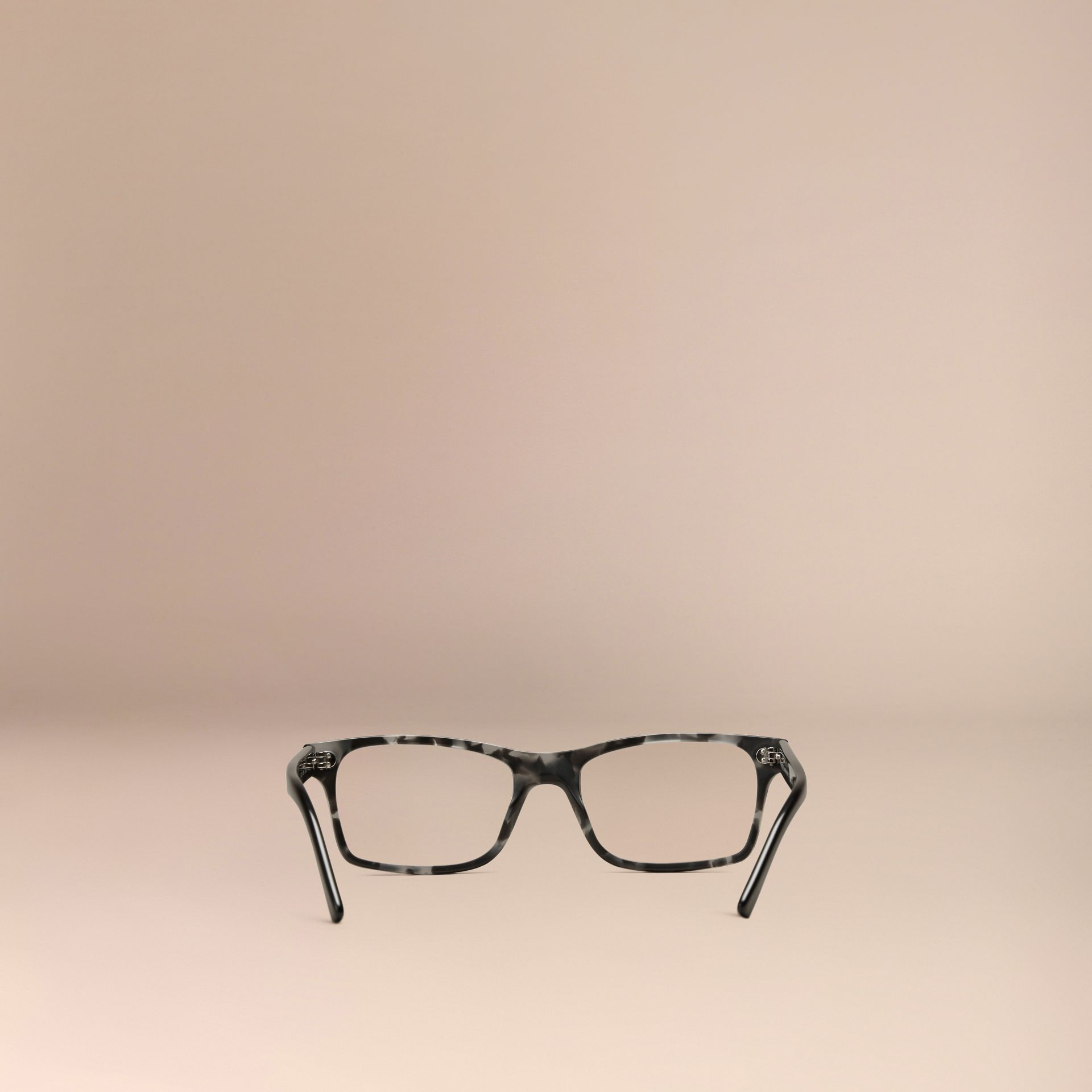 Rectangular Optical Frames Pale Grey Melange - gallery image 3